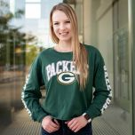 Packers Womens 47 Parkway Cropped T-Shirt
