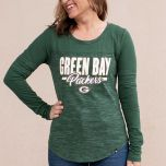 Packers Women's Space Dye Scoop Neck T-Shirt