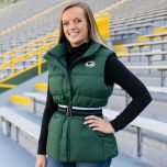 Packers Women's Erin Andrews Puffer Full Zip Vest