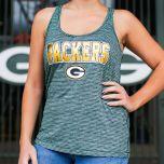Packers Womens Space Dye Racer Tank Top