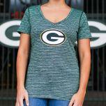 Packers Womens Space Dye V-Neck T-Shirt