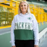 Packers Womens 47 Lizzy Cut Off Cropped Hoodie