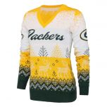 Packers Women's White Ugly V-Neck Sweater