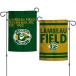 Lambeau Field Stacked 2-Sided Garden Flag