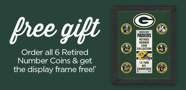 FREE GIFT, order all 6 retired Number Coins and get the display frame free!*