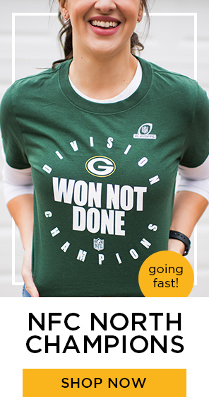 NFC North Champions, going fast. Shop now