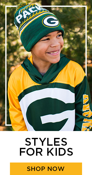 Green and Gold packers Sweatshirts, shop styles for kids