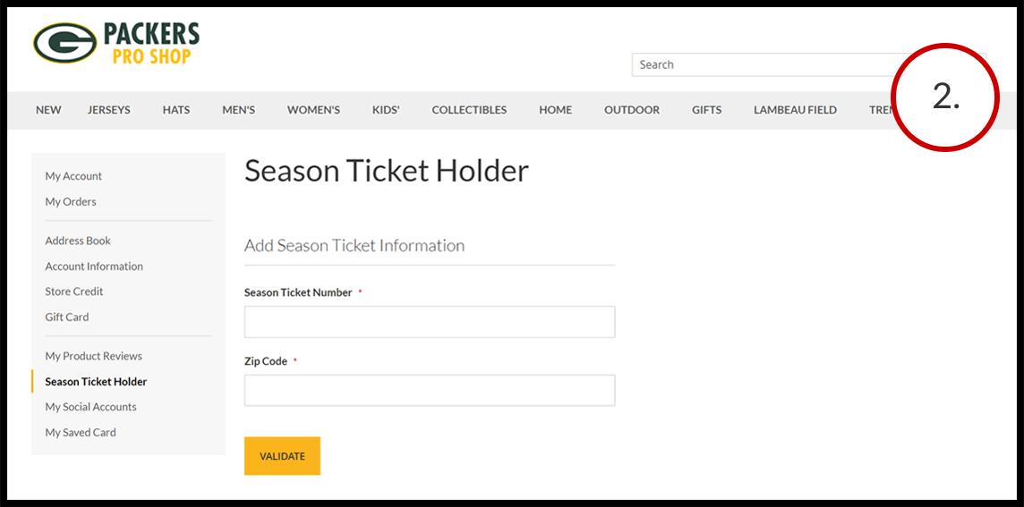 Season Ticket Holders - second - Add Season Ticket Holder Account ID